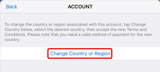 Comment changer le pays de l'App Store - Étape 3