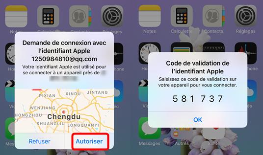 Autoriser un appareil sur iCloud depuis iPhone