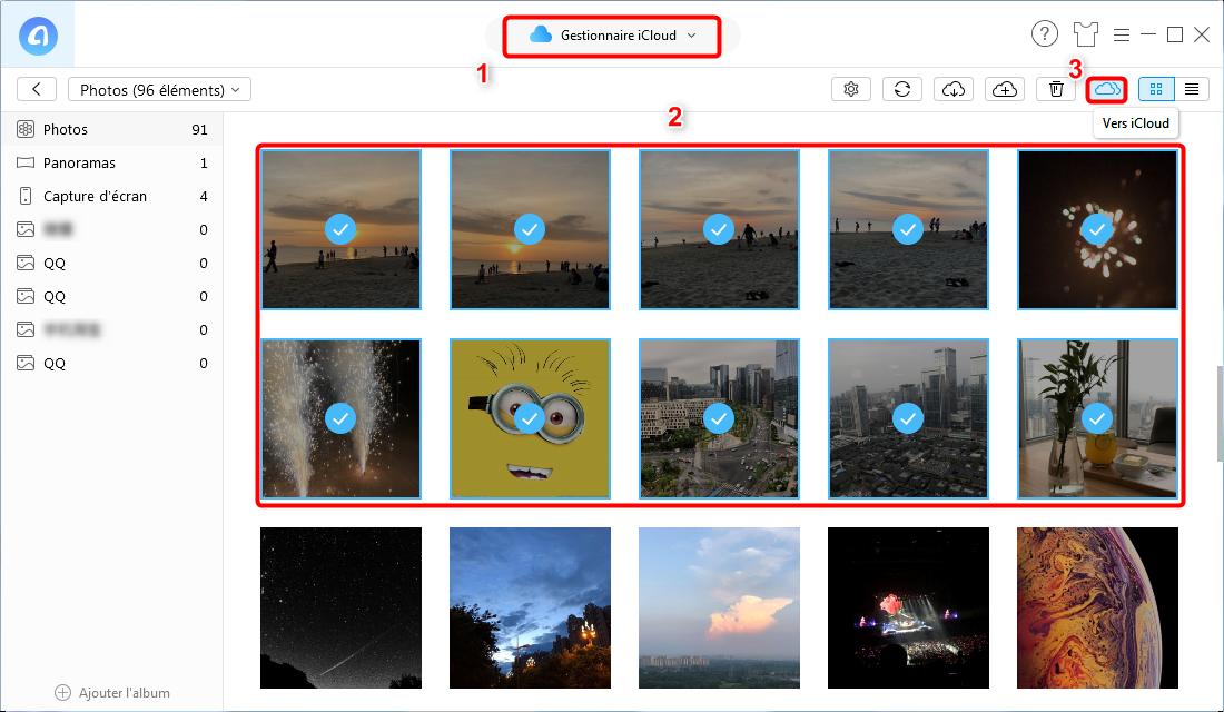 Synchroniser les données entre deux comptes iCloud