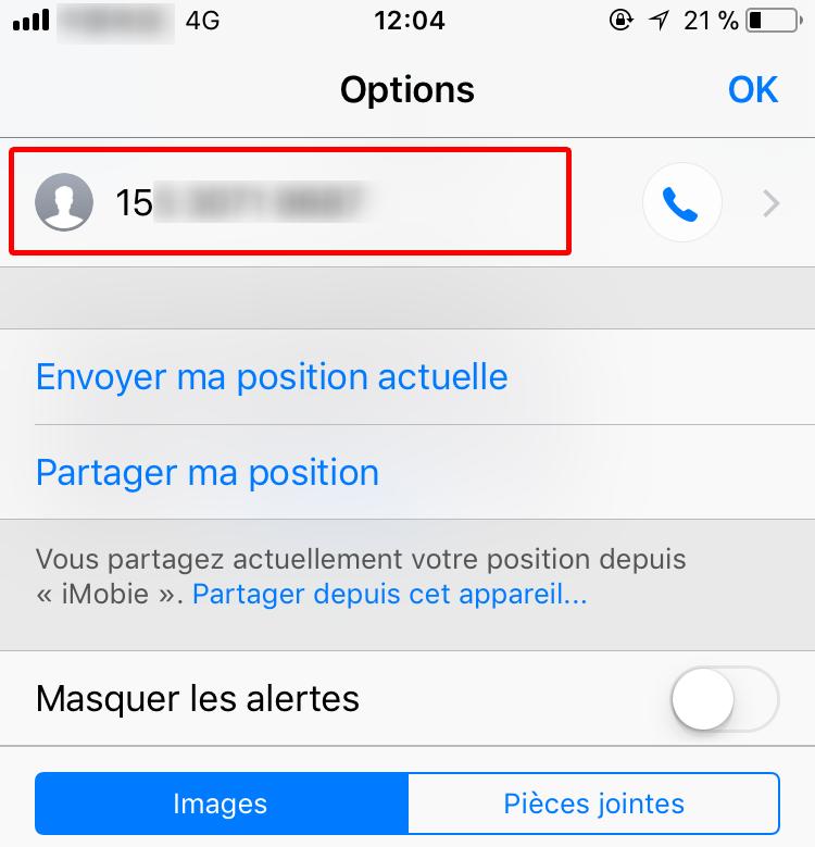 Moyen de filtrer les SMS du spam - étape 2