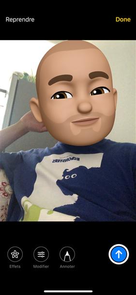 Comment prendre une photo/selfie avec Memoji/Animoji sur iPhone