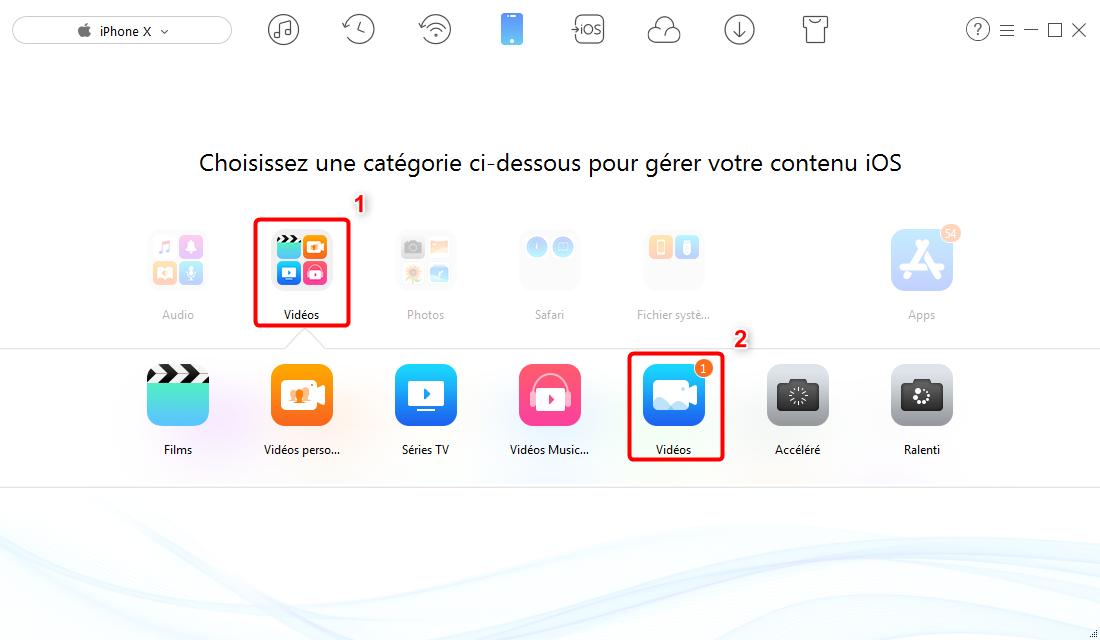 Comment transférer Memoji iPhone X vers PC/Mac