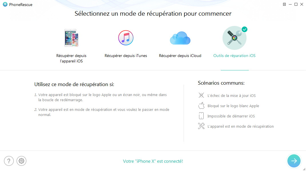 Restaurer votre iPhone avec PhoneRescue pour iOS