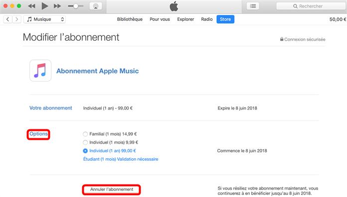 Comment gérerlesabonnements iTunes