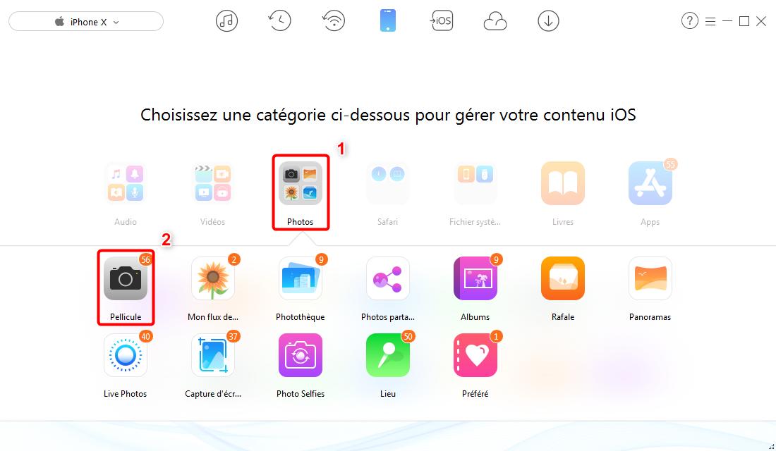 Sauvegarder et cacher les photos iPhone sur PC