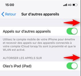 Téléphoner avec iPad Pro/Air 2/mini 4/2018