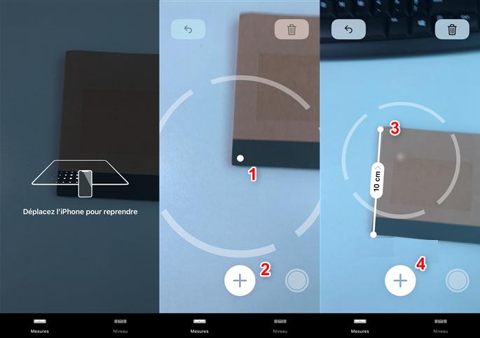 Comment utiliser l'application Mesures dans iOS 12 - Étape 4