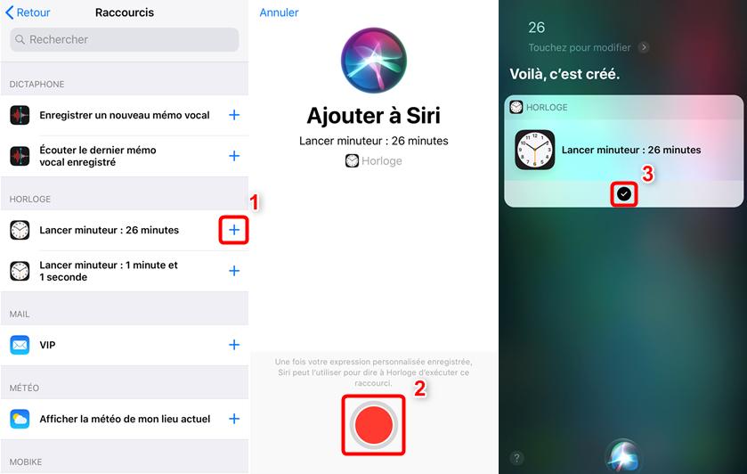 Utiliser les raccourcis Siri sur iPhone sous iOS 12