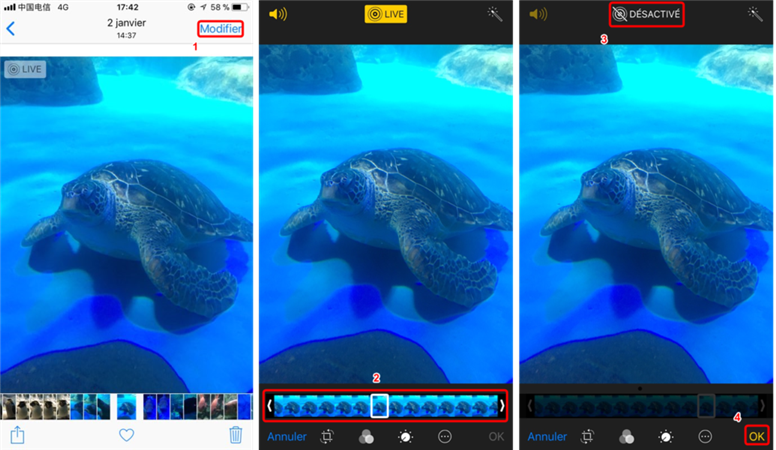 Comment extraire une photo à partir d'une Live Photo - Étape 2