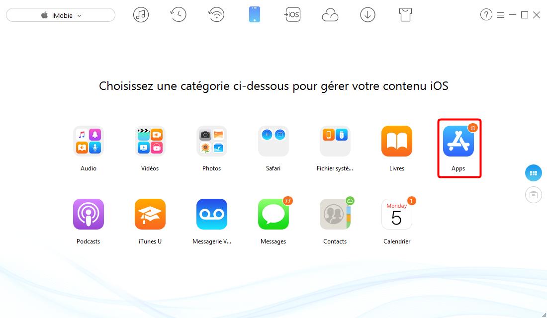 Transférer des applications iPhone vers un autre