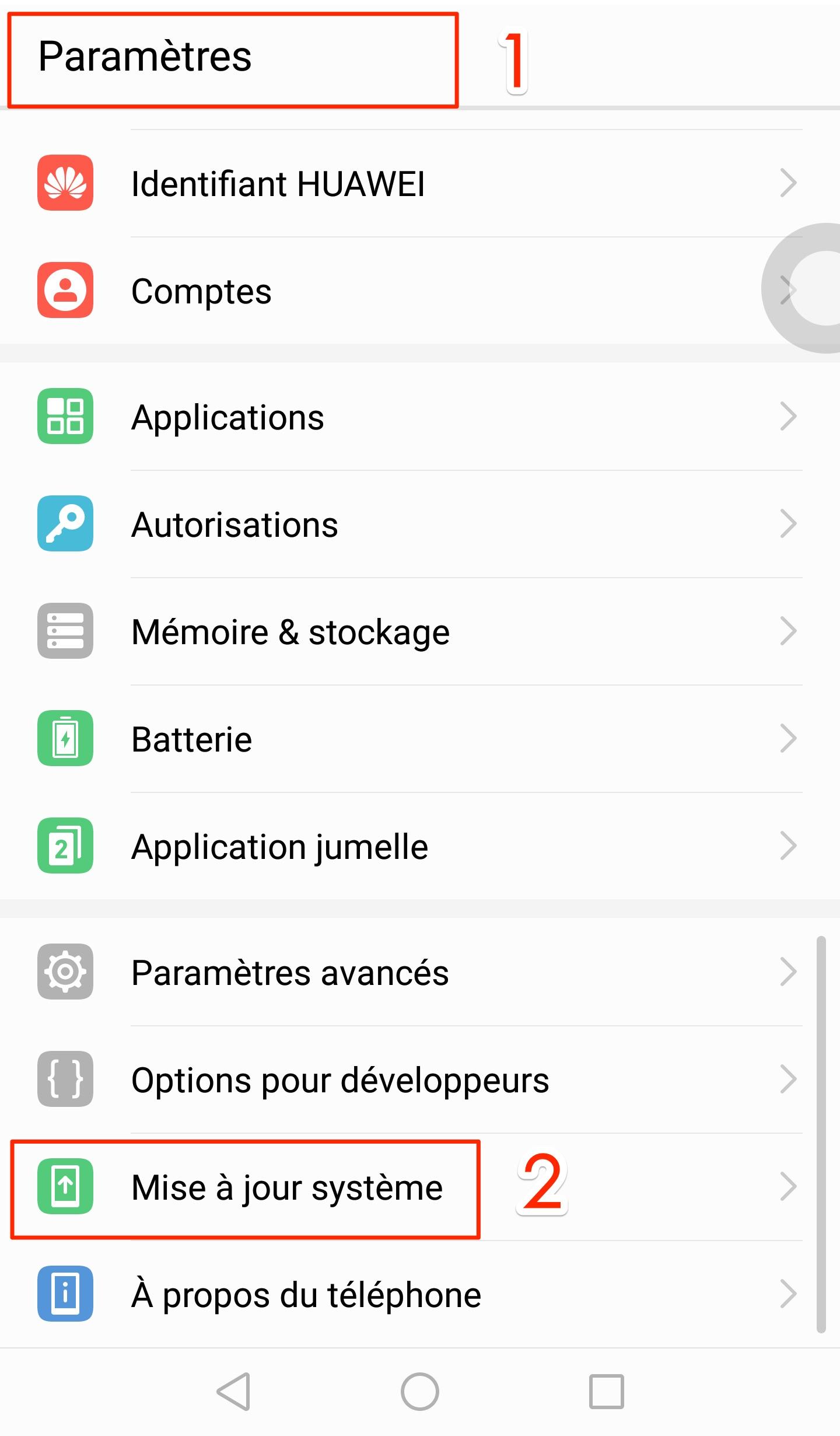 Impossible de mettre à jour des applications Android