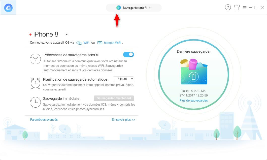 Comment sauvegarder iPhone via Wi-Fi automatiquement