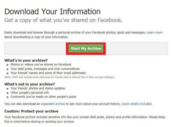 Récupérer des messages Facebook supprimés sur iPhone depuis les paramètres - Étape 3