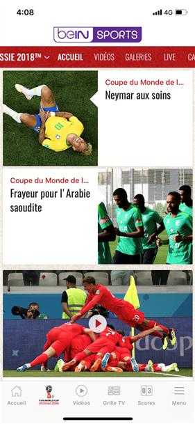 Regarder les matchs de la coupe du monde