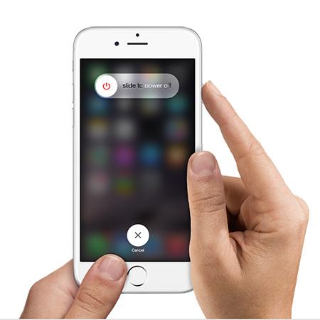 Fixer l'iPhone endommagé par l'eau - éteindre l'iPhone