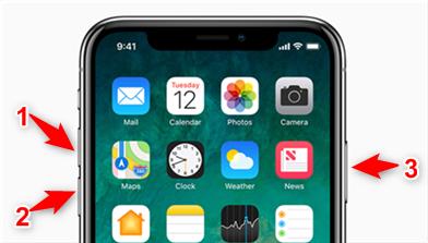 Redémarrer iPhone X pour Face ID ne fonctionnant pas