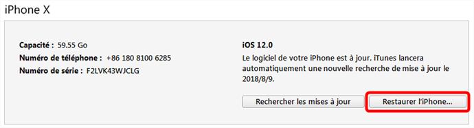 Restaurer iPhone si Face ID ne marche plus
