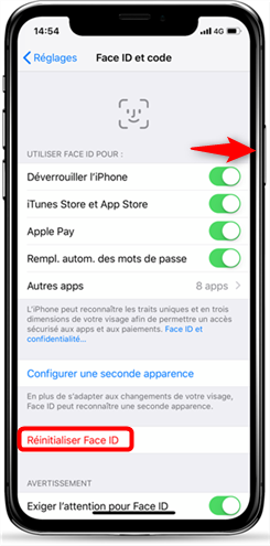 Face ID iPhone X ne fonctionne pas