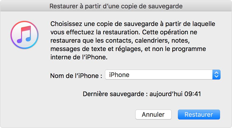 Enlever iPhone du mode récupération via iTunes-étape 3