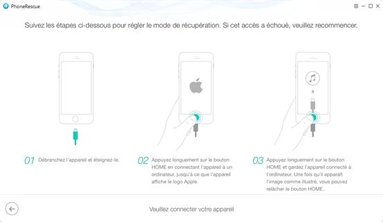 Quitter le mode récupération avec PhoneRescue -étape 3