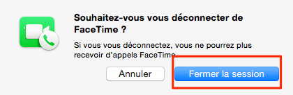 Mac/iPhone/iPad demande incessante le mot de passe FaceTime – étape 2