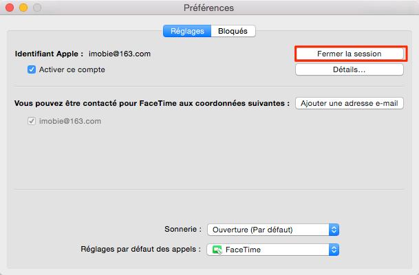 Comment faire si Mac demande sans cesse le mot de passe iMessage – étape 2