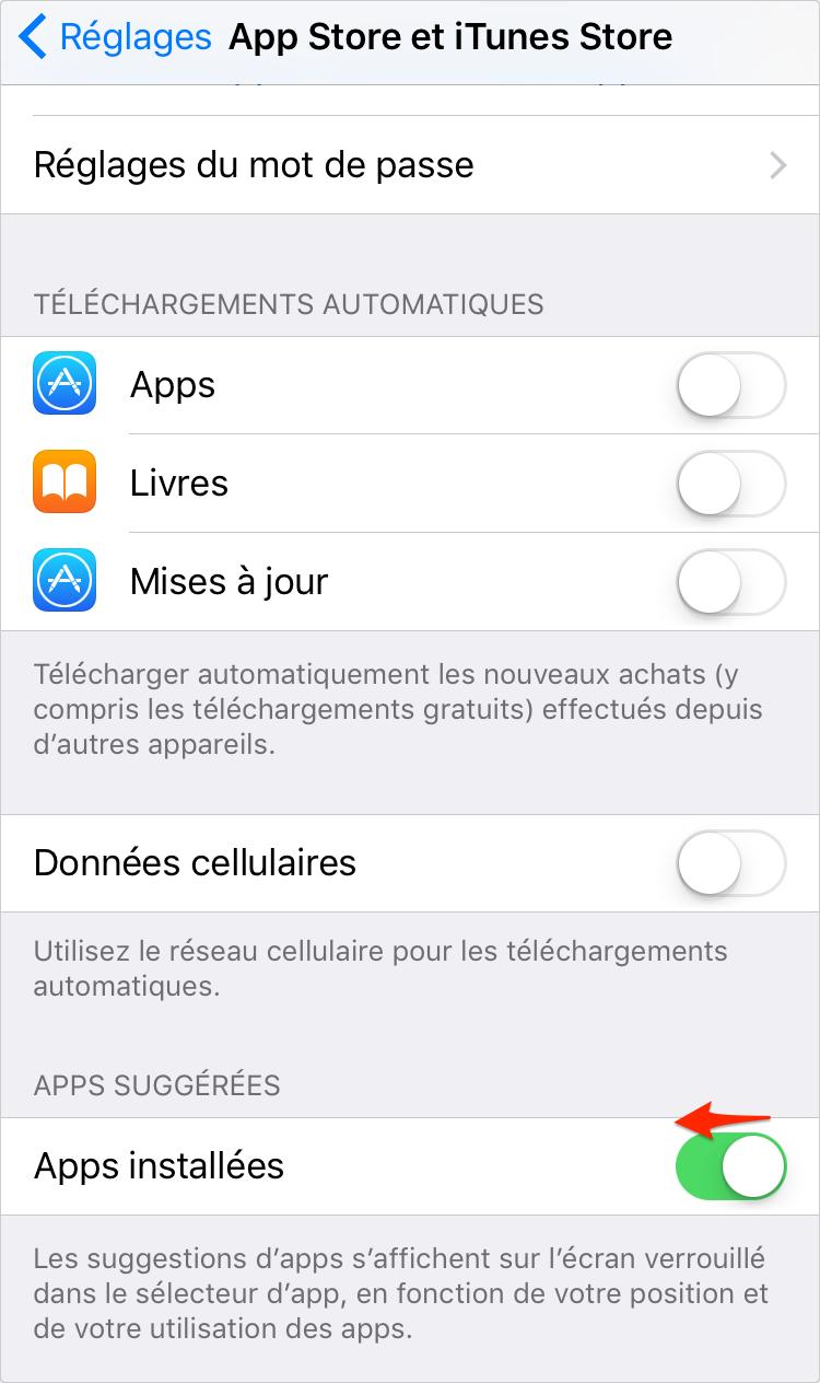 Comment désactiver Apps suggérées sur iPhone iOS 9 – étape 3