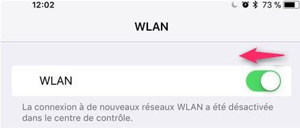 Déactiver Wi-Fi d'iPhone iOS 11