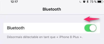 Déactiver Bluetooth d'iPhone iOS 11