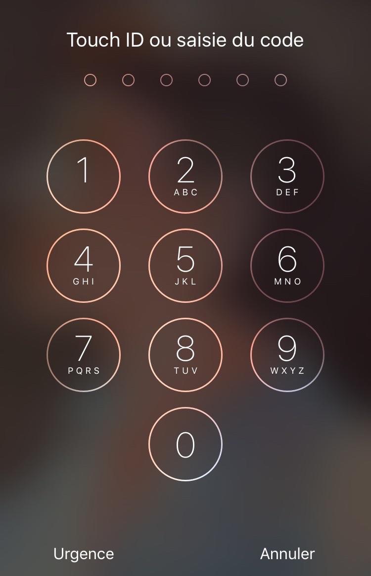 Entrer le mot de passe pour déverrouiller votre appareil