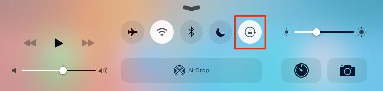 Comment faire si écran d'iPad ne tourne plus sous iOS 10