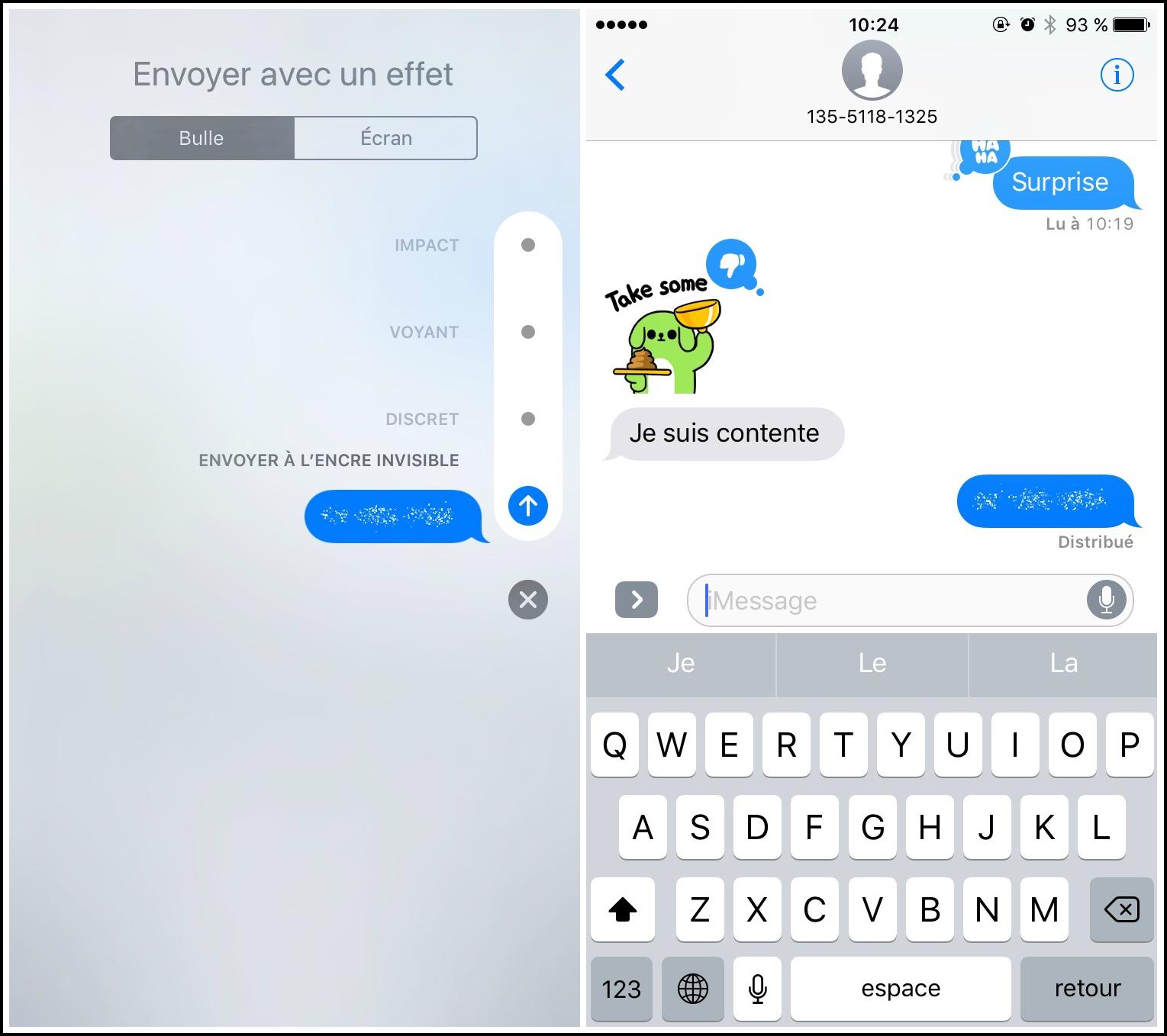 couleurs et frappant nombreux dans la variété réflexions sur iOS 11 : Comment envoyer iMessages avec effet de bulle ...