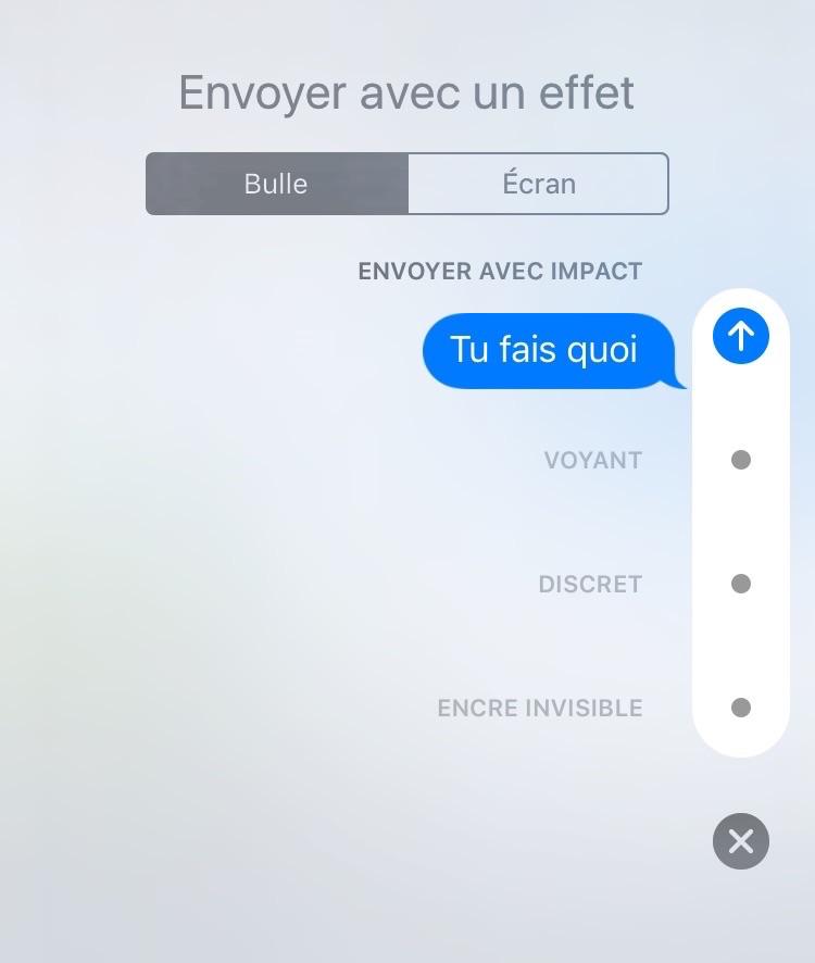 Comment envoyer des iMessages avec effet Impact