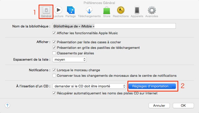 Impossible de convertir musiques en MP3 avec iTunes