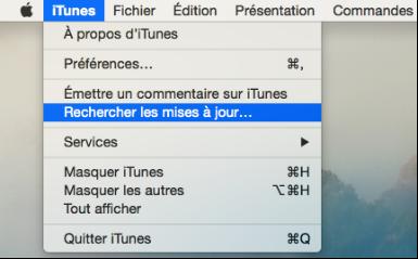 Installez la dernière version d'iTunes