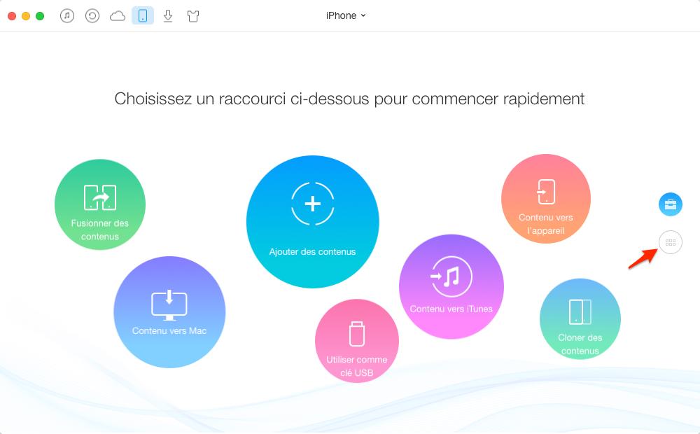 Synchroniser les données iPhone avec AnyTrans pour iOS – étape 1