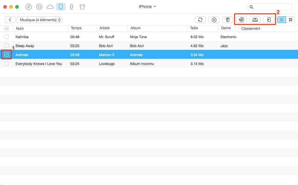 Synchroniser les données iPhone vers iTunes Mac – étape 3