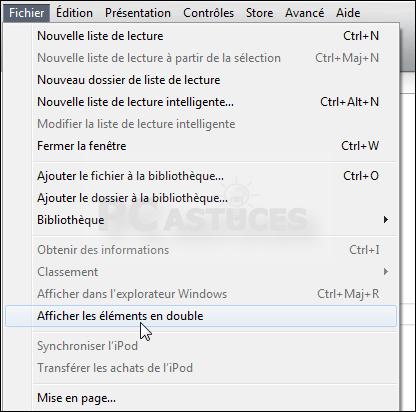 Accélérer iTunes - Supprimer les fichiers en double
