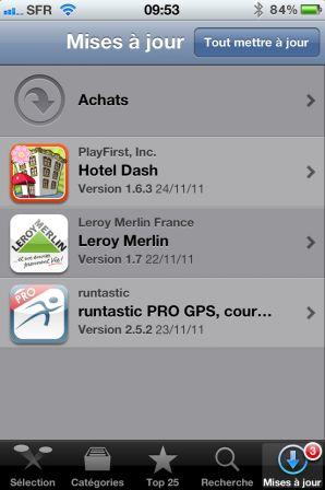 Masquer les applis achetées sur l'App Store depuis l'iPhone – étape 1