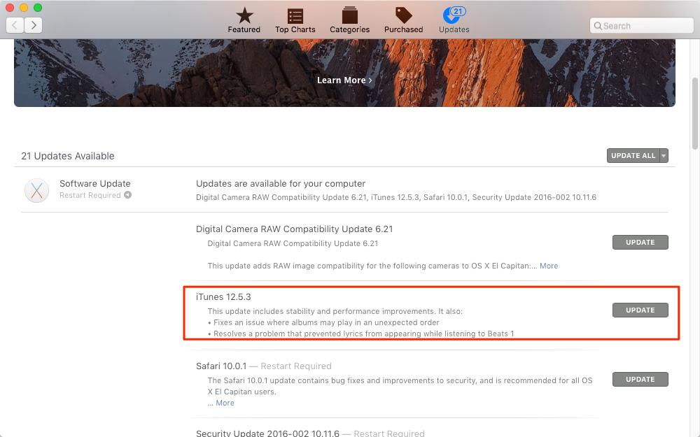 Comment mettre à jour iTunes sur Mac
