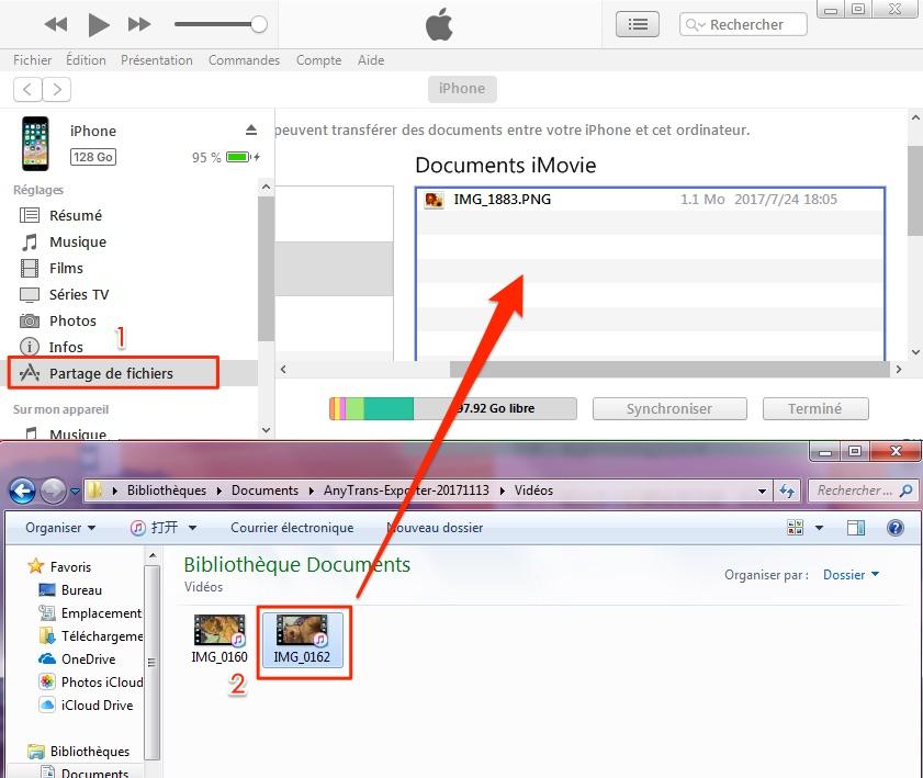 Partager les fichiers d'ordinateur vers iTunes