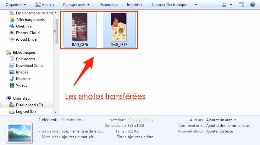 Solution sur les photos n'apparaissent pas toutes sur mon PC