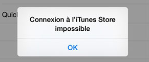 Impossible de connecter à l'iTunes Store sur iPhone
