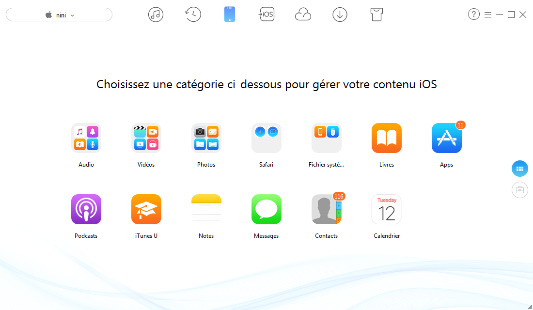Meilleur alternative à iTunes - Aperçu d'AnyTrans pour iOS