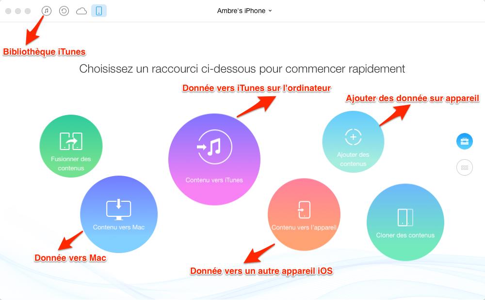 Transférer des données iPhone en un clic avec AnyTrans pour iOS