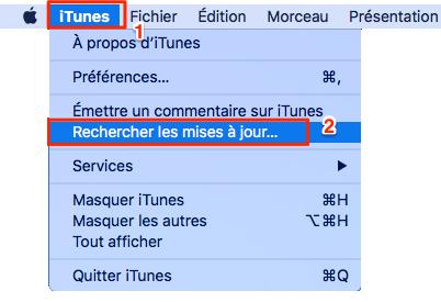 Mettre à jour votre iTunes à la dernière version