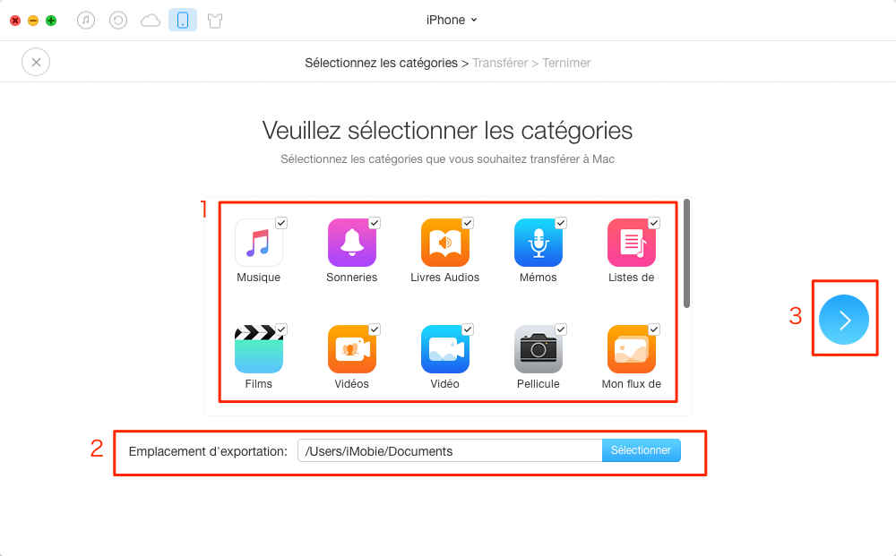Sauvegarder votre iPhone avec AnyTrans