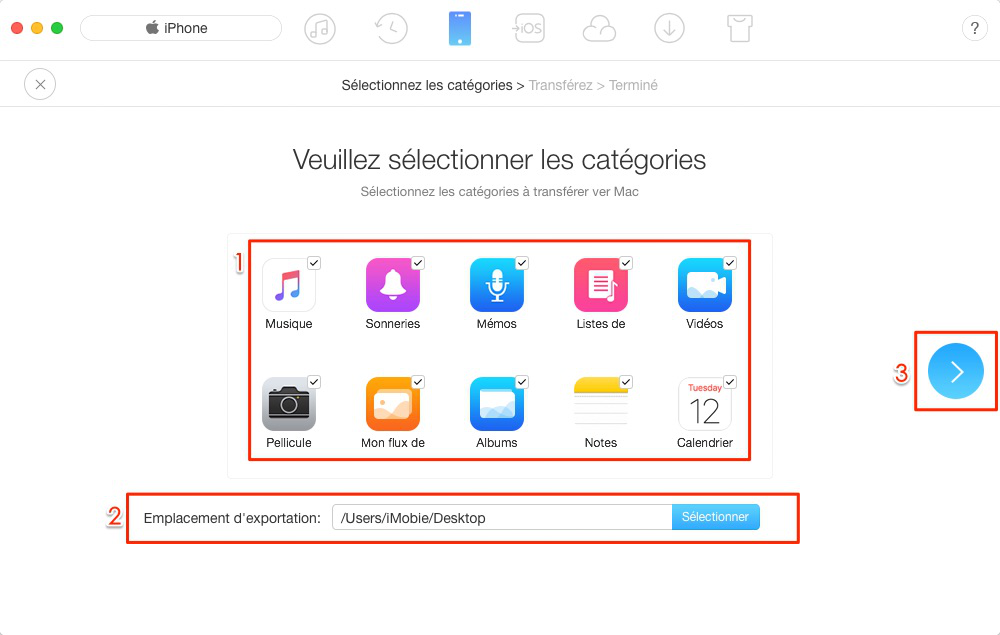 Sauvegarder votre iPhone avec une alternative à iTunes – étape 2