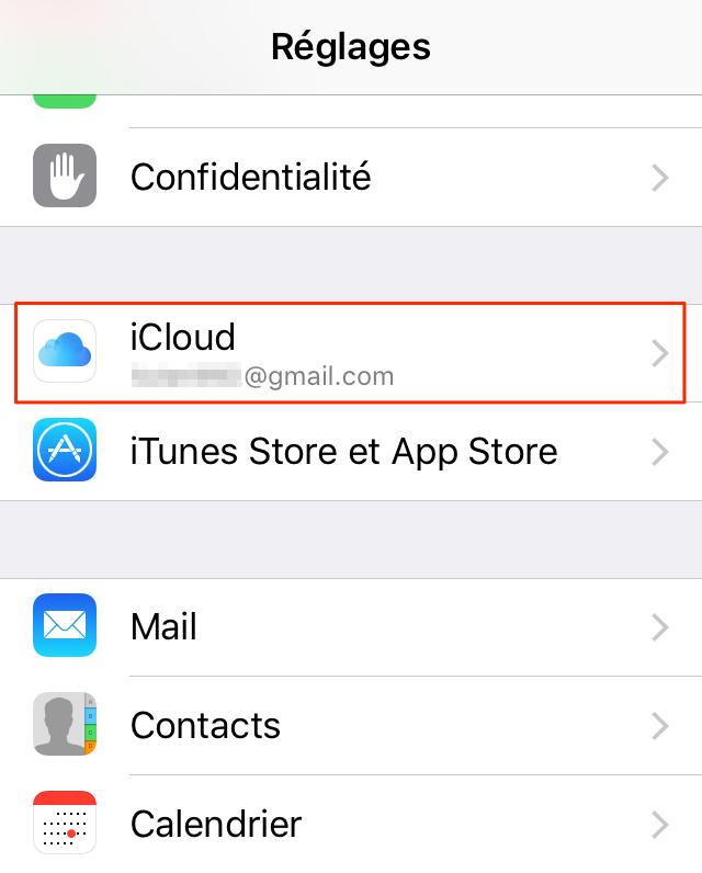 Connectez à iCloud