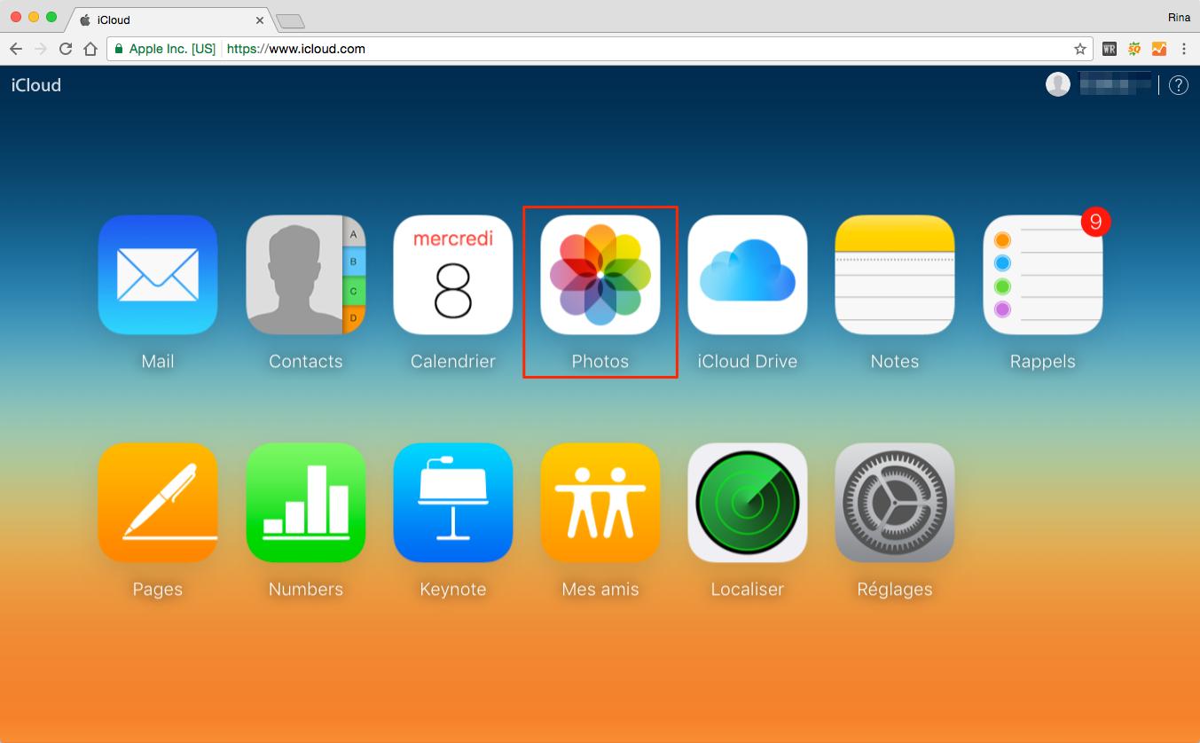Sauvegarder les photos d'ordinateur sur iCloud